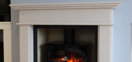 Dimplex Burgate Optymist Electric stove into Larvartto Fireplace Suite